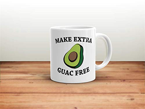 N\A Haga una Taza Extra sin Guacamole Haga una Taza Extra sin Guacamole para Amantes de la Comida Taza de Aguacate Regalo de Aguacate Taza de café con Aguacate Tumblr