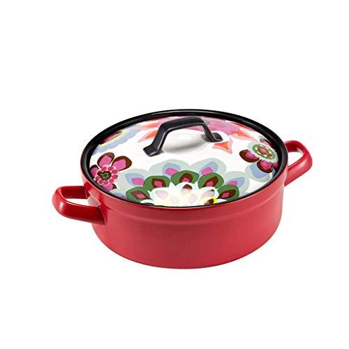 DYXYH Cacerola de cerámica, Utensilios de Cocina de Cocina de cerámica con una Tapa de cazuela Crisol de guisado de la Loza de Barro Sopa de Olla multifunción