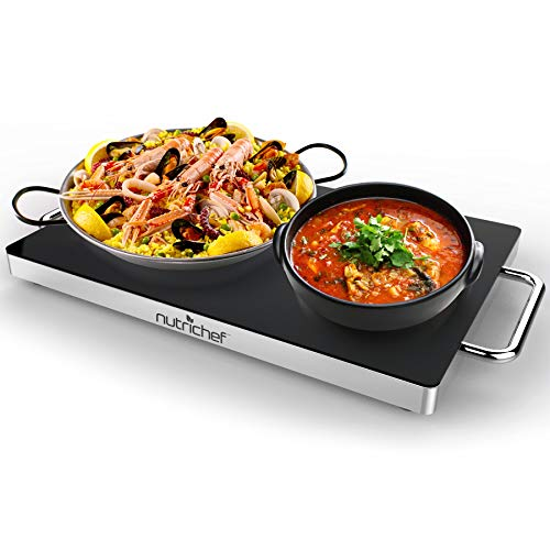 NutriChef Electric Warming Tray, Food Warmer, Hot Plate, Perfect For...