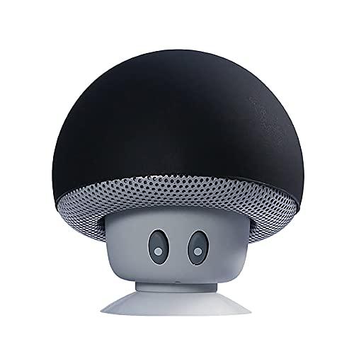 DIRTOM Enceinte Bluetooth Portable Champignon, avec USB - Basses Puissantes - Se Ventouse Partout - Fonction Mains Libres Bluetooth - Autonomie 7hrs - Porté Bluetooth de 10 m