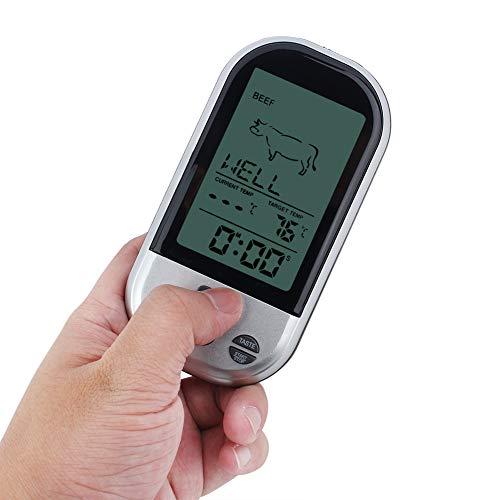 Weikeya - Termómetro para barbacoa, termómetro de carne de lectura predeterminada, 18,5 x 10,5 x 5,5 cm, plástico práctico