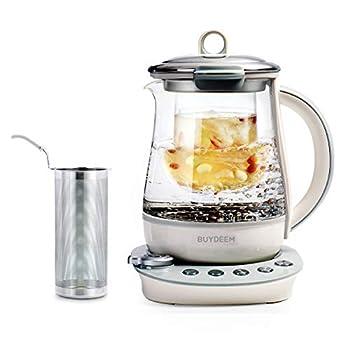 BUYDEEM K2683 Health-Care Beverage Tea Maker and Kettle 9-in-1 Programmable Brew Cooker Master 1.5 L Spruce Blue