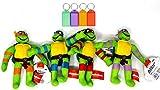 Teenage Mutant Ninja Turtles Plush Set Stuffed Animal Kids Gift Toy + Bonus with Name Tag