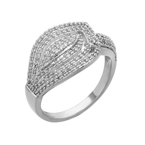 HYLJZ Ring 1 Stück Hochzeit Brinde Blätter Ring Neue Zirkonia Ring Schmuck Promis Ring Frauen Männer Fashion Party