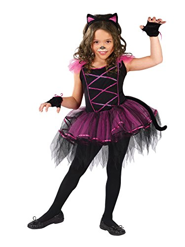 Girls Catarina Kids Child Fancy Dress Party Halloween Costume, L (12-14) Black/Purple