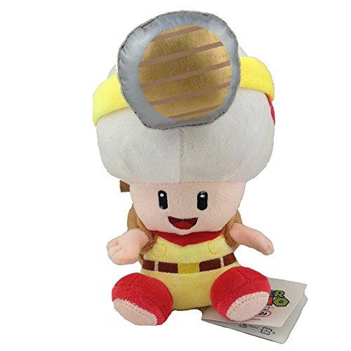 Yijinbo Capitán Toad Super Mario Bros Mochila rastreador de Tesoros de Peluche de Animal Seta 7 Pulgadas