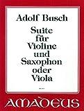 BUSCH A. - Suite para Violin y Saxofon (Clarinete) (Viola) (Bauch)