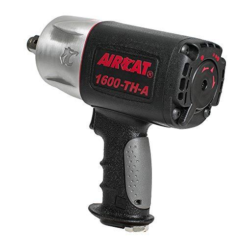 AIRCAT 1600-TH-A 3/4' Drive Composite Impact Wrench, Medium, Black & silver