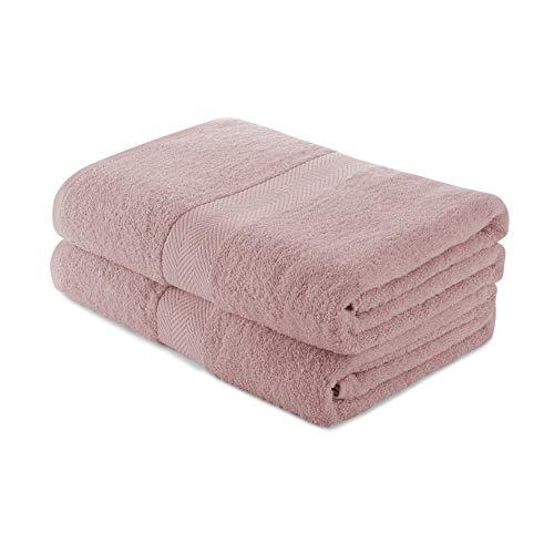 Charles Wilson Handtuch-Set 100% Baumwolle 500g/m² (2 Handtücher, Pastell Rosa (0120))