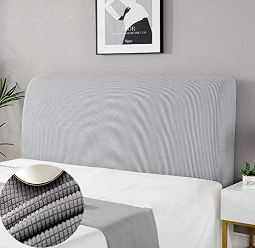 copri testiera letto matrimoniale,copri testiera letto matrimoniale elastica Fodera Elastica Protezione Pacchetto completo a 360° chiaro grigio 180cm(66.9 -74.8 )