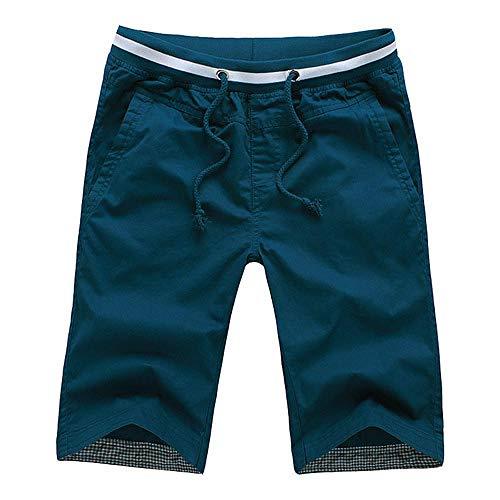 Nouveautés Coton Hommes Shorts Homme Plage Slim Fit Bermuda Masculina Joggers 4XL Greenasiansize