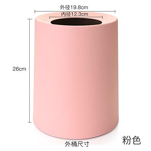 CADANIA Mini Poubelle de Bureau Poubelle de Bureau Panier /à ordures m/énag/ères Panier /à ordures m/énag/ères Panier /à Couvercle basculant Rose