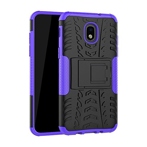 Galaxy J3 2018/J3 Orbit/J3 Achieve/J3 Express Prime/J3 Prime 2/J3 Emerge 2018/Amp Prime 3/J3 Eclipse 2/Sol 3/J3 Aura/J3 Star Case, ZERMU Ultra Thin Durable Hard Plastic Case with Kickstand