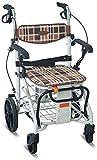 Rollator Walker - Andador médico para personas mayores y adultos con ruedas para personas mayores, aluminio plegable, altura ajustable, ayuda para caminar (color: predeterminado)