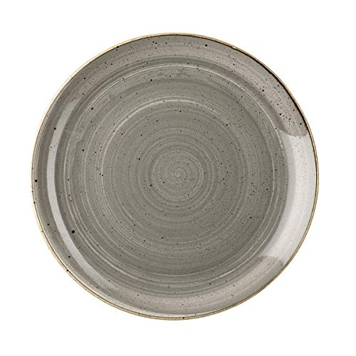 Churchill Stonecast Round Coupe Plate Peppercorn Grey 260mm (Pack of 12) - [DK553]