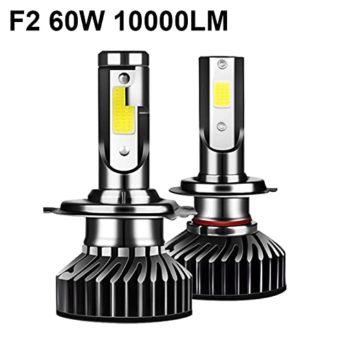 LQQIANG Yhkoms 80W 14000LM Coche Haedlight H4 H7 H1 LED H8 H9 H11300K 5000K 6500K 8000K 25000K Auto Fog Light 80W 16000LM 12V Bulbo LED (Color : 25000K, Emitting Color : F2)