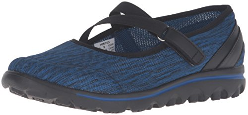 Propet Women's TravelActiv Mary Jane Flat, Black/Navy...