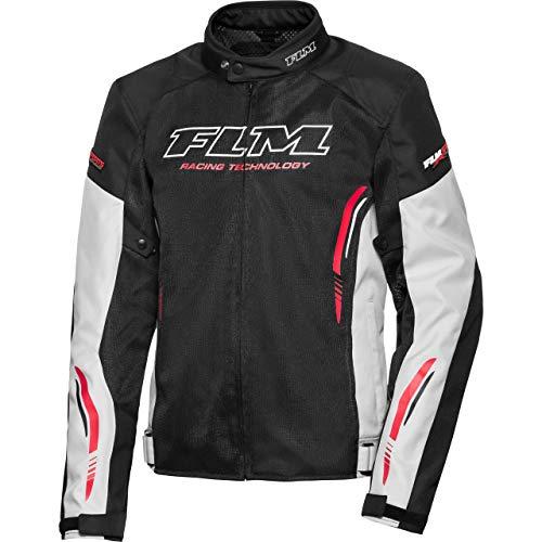 FLM Motorradjacke mit Protektoren Motorrad Jacke Sommer Sports Textiljacke 6.0 grau L, Herren, Sportler, Polyester