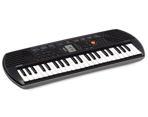 Casio SA-77 - Teclado electrónico (plástico, 2 altavoces integrados), negro/gris