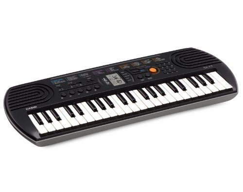 Casio SA-77 Mini Tastiera polifonica ad 8 Voci e 44 tasti, Nero/Grigio