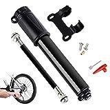 Bike Pump,Naispanda Bicycle Pumps,Mini Presta Aluminum Alloy Portable Bike Pump,Fits Presta and Schrader