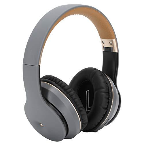 Vipxyc Auriculares Bluetooth inalámbricos Auriculares Bluetooth retráctiles y Plegables Audio HI-FI Compatible con teléfonos móviles, computadoras portátiles, tabletas, televisores, etc.(Oro Gris)