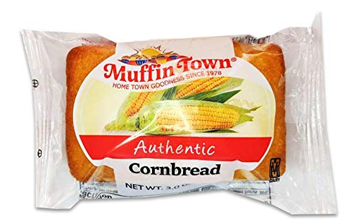 Individually Wrapped Cornbread Snack Loaves - 3 oz. 36 per case