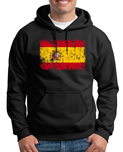 Shirt-People - Sudadera con Capucha para Hombre, diseño de Bandera de España