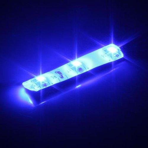 Ecloud Shop 2 X Bande Lumineux Lampe 12V 3 LEDs 3528 SMD Etanche Bleu Pour Voiture