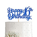 Size: 6.3 inch wide The cake topper is great for many party and event. High Quality: Made of high quality thick blue glitter paper. Excellent Texture and Food Safety. Cake toppers perfect for your event cake and use as a photo booth prop. This beauti...