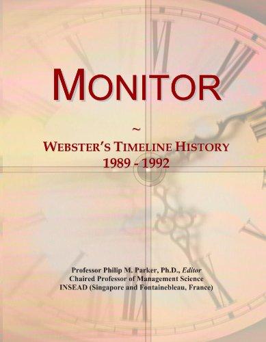 Monitor: Webster's Timeline History, 1989 - 1992