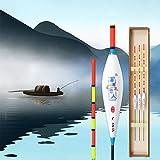 JEANGO 5pcs Aparejos de Pesca flotadores, Material Nano caña de Pescar Flotador Pesca Carpa Aparejos de Pesca, Blanco