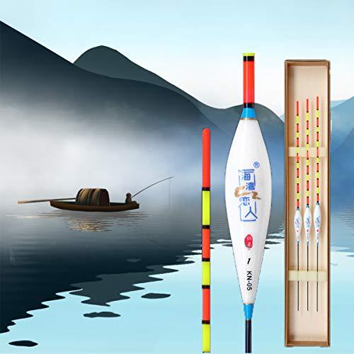 JEANGO 5pcs Aparejos de Pesca flotadores, Material Nano caña de Pescar Flotador...