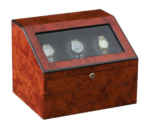 Orbita Siena 3 Executive RotorWind Watch Winder, Teak