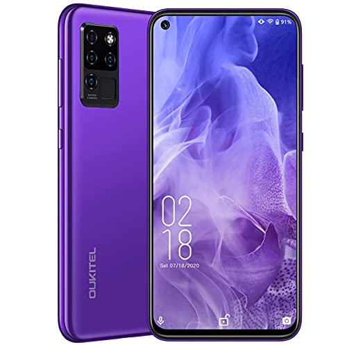 Smartphones Unlocked,Android 10 Cell Phone,2021 OUKITEL C21 6.4 Inch FHD+ Screen,20MP Front+4 Rear Cameras,Gaming Processor 4+64GB,4000mAh Battery,Dual SIM 4G Support T-Mobile AT&T,Fingerprint&Face ID