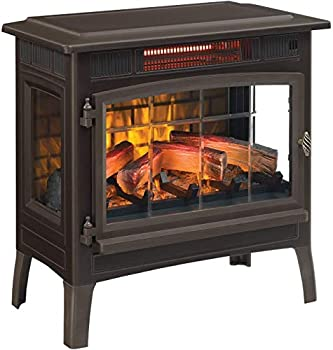 Duraflame 3D Infrared Electric Fireplace Stove with Remote Control - Portable Indoor Space Heater - DFI-5010  Bronze