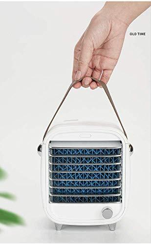 Enfriador de aire portátil, mini enfriador de aire, aire acondicionado portátil, humidificador de aire acondicionado personal para el hogar, restaurante, oficina y exteriores, carga USB y silencioso