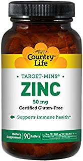 Country Life Target Mins Zinc, 50 mg - 90 Tablets