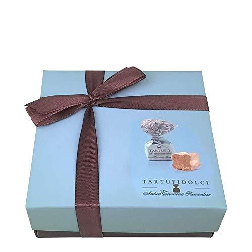 Tartufo dolce al cappuccino | 1 Geschenkset mit 125 g Tartufi | Antica Torroneria Piemontese | Edle Trüffel-Praline aus Italien | Feine Trüffel mit weißer Schokolade und Arabica Kaffee | Glutenfrei