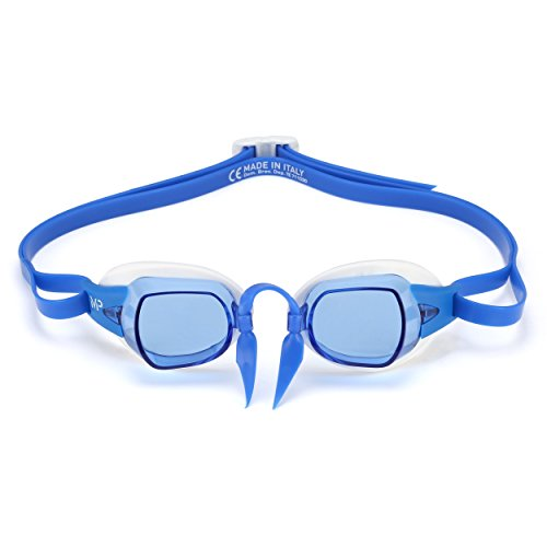 MP Michael Phelps Chronos Swedish Goggles, Blue Lens White/Blue