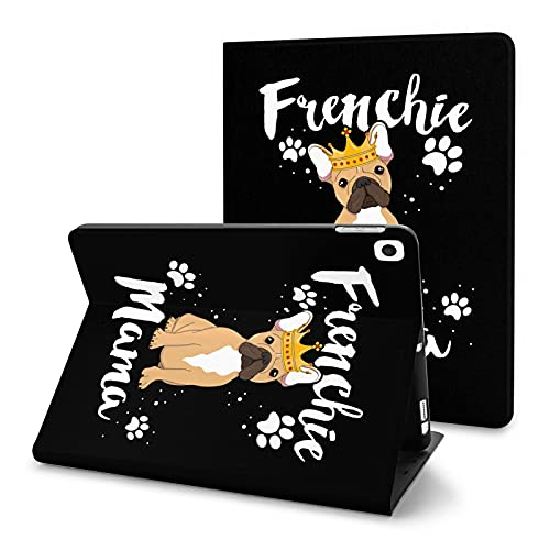 French Bulldog Frenchie Mama Case for iPad 8th Generation Case with Pencil Holder 2020 10.2 Inch Auto Wake Sleep Cover