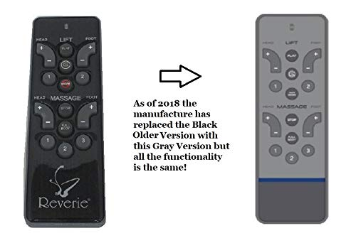 Reverie RC-WM-103 (New Gray Version) Replacement Remote for Adjustable Bed