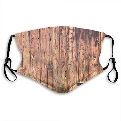 Winddichte Maske, antike Holzbretter in verwitterten Tönen mit Schlössern Vintage Style Country House Bild