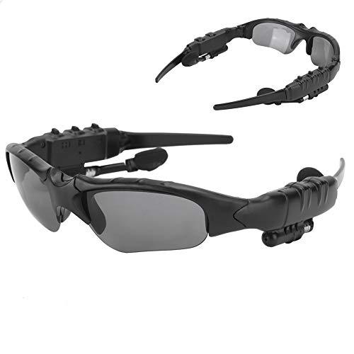 Goshyda Gafas polarizadas con Bluetooth, Gafas de Sol inalámbricas portátiles Inteligentes 5.0, Gafas de conducción Deportiva con Auriculares estéreo, para Hablar, Escuchar música(Lente Amarilla)