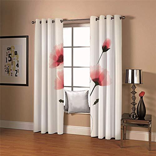 cortinas opacas 2 piezas salon