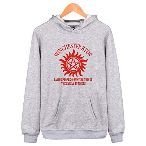 Mempire Unisex Sudadera con Capucha Sam Dean Winchester Brothers Hooded Sweatshirt Pullover Novedad Hoody Casual (H,M)