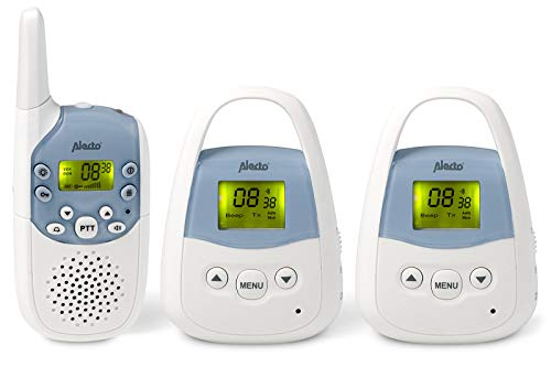 Alecto DBX-82+83 PMR-Babyphone mit 2 Babyeinheiten, hoher Reichweite von bis zu 2 km, mit einem beleuchtetem Display und Verbindungskontrolle