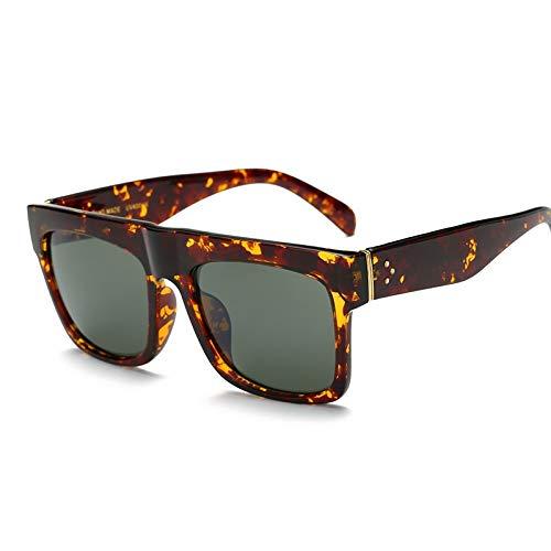 IN THE DISTANCE Gafas De Sol De Remache De Gran Tamaño Mujeres Gafas De Sol Inspiradas En El Diseñador De La Marca Gafas Planas Gafas De Sol Vintage Kim Kardashian (Lenses Color : C8)