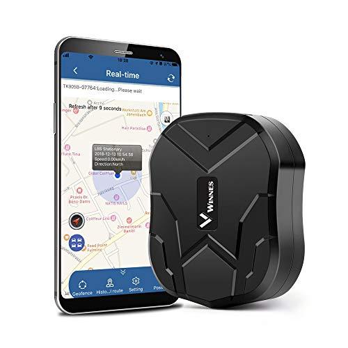 Hangang GPS Tracker, Tracker locator für Auto Wasserdicht/GSM/GPRS Tracking 150 Tage Standby Strong magnetic GPS ortung Versteckte Auto Diebstahlschutz für Fahrzeuge und Kinder/Anzian/Persönlich