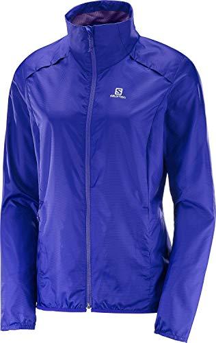 Salomon Agile Wind JKT W Leichte Jacke, Damen S Blau (Spektrumblau)
